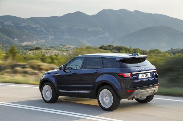 2016 New Range Rover Edition Evoque eD4 2WD back side view