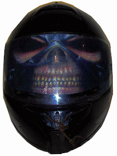 Motorcycle Helmet Visor Decal