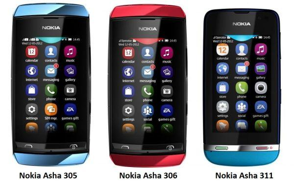 Nokia Asha Touch Screen