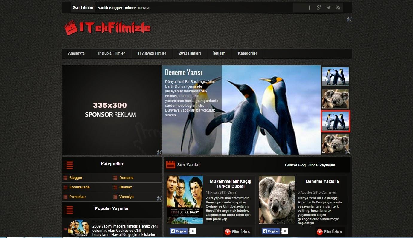 Filmkolik V1 - Blogger film teması