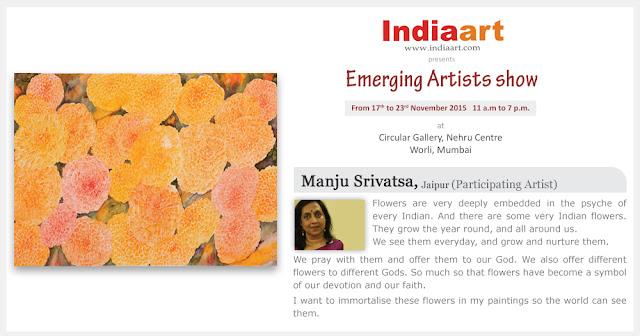 Artist Statement byManju Srivatsa - Emerging Artists show by Indiaart.com