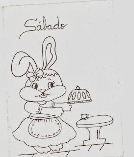 semaninha da coelha de pascoa para pintar