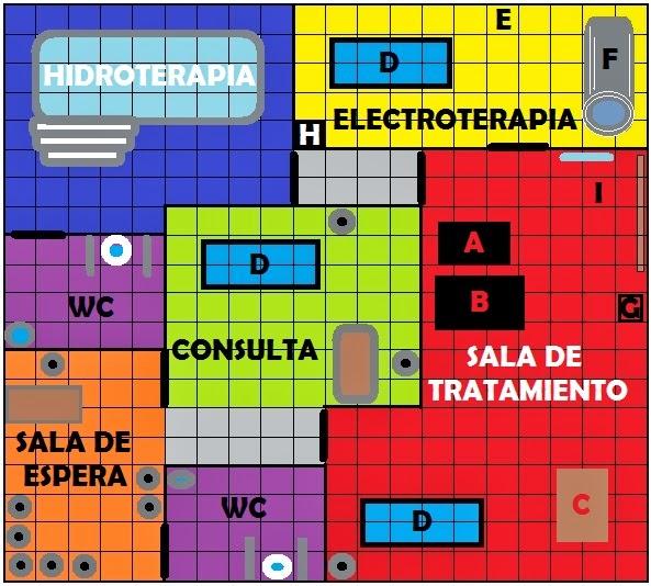 """Baño Discapacitados Reglamentacion:Sport-Tí : PLANOS DE LA CONSULTA Y CLÍNICA DE FISIOTERAPIA """"SPORT"""