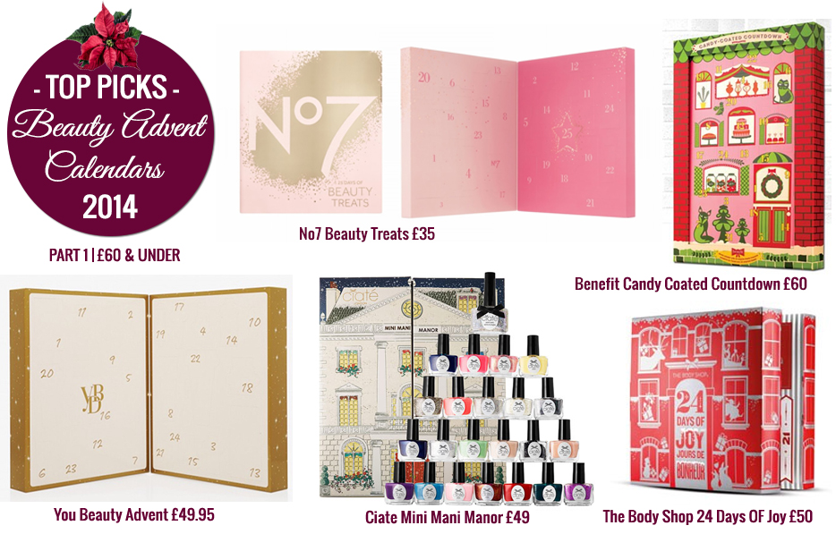 Beauty advent calendar 2014, advent calendar 2014, best beauty advent calendars, christmas advent calendars 2014, gift guide for her, christmas beauty, christmas beauty gifts, christmas gifts for her