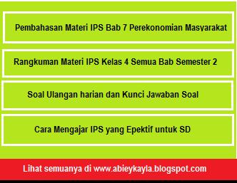 Pembahasan Materi Pelajaran, Rangkuman, dan Soal IPS Kelas 4 SD/MI Bab 7 Perekonomian Masyarakat Semester 2
