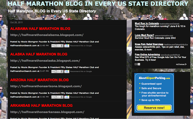 US HALF MARATHON BLOG DIRECTORY