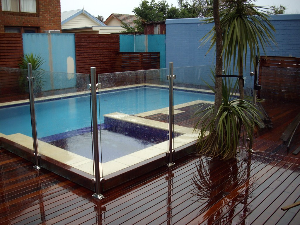 Home and garden swimming pool fences for Glass pool fences