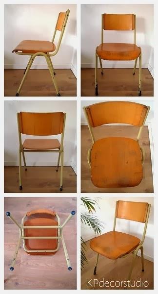 comprar sillas de madera vintage industrial