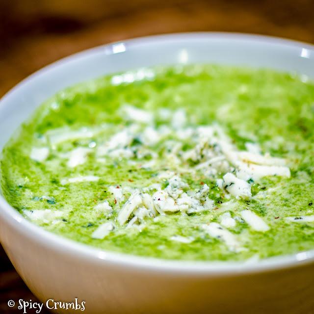 Zelená krémová polévka