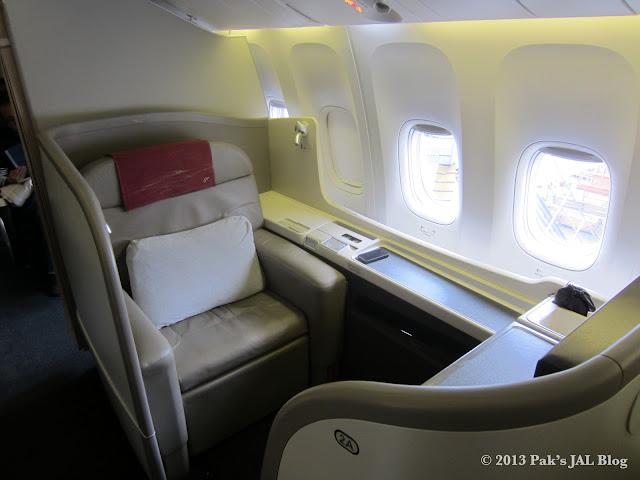 JAL Suite seat 2A