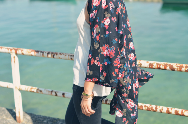 Kimono à fleurs Pimkie