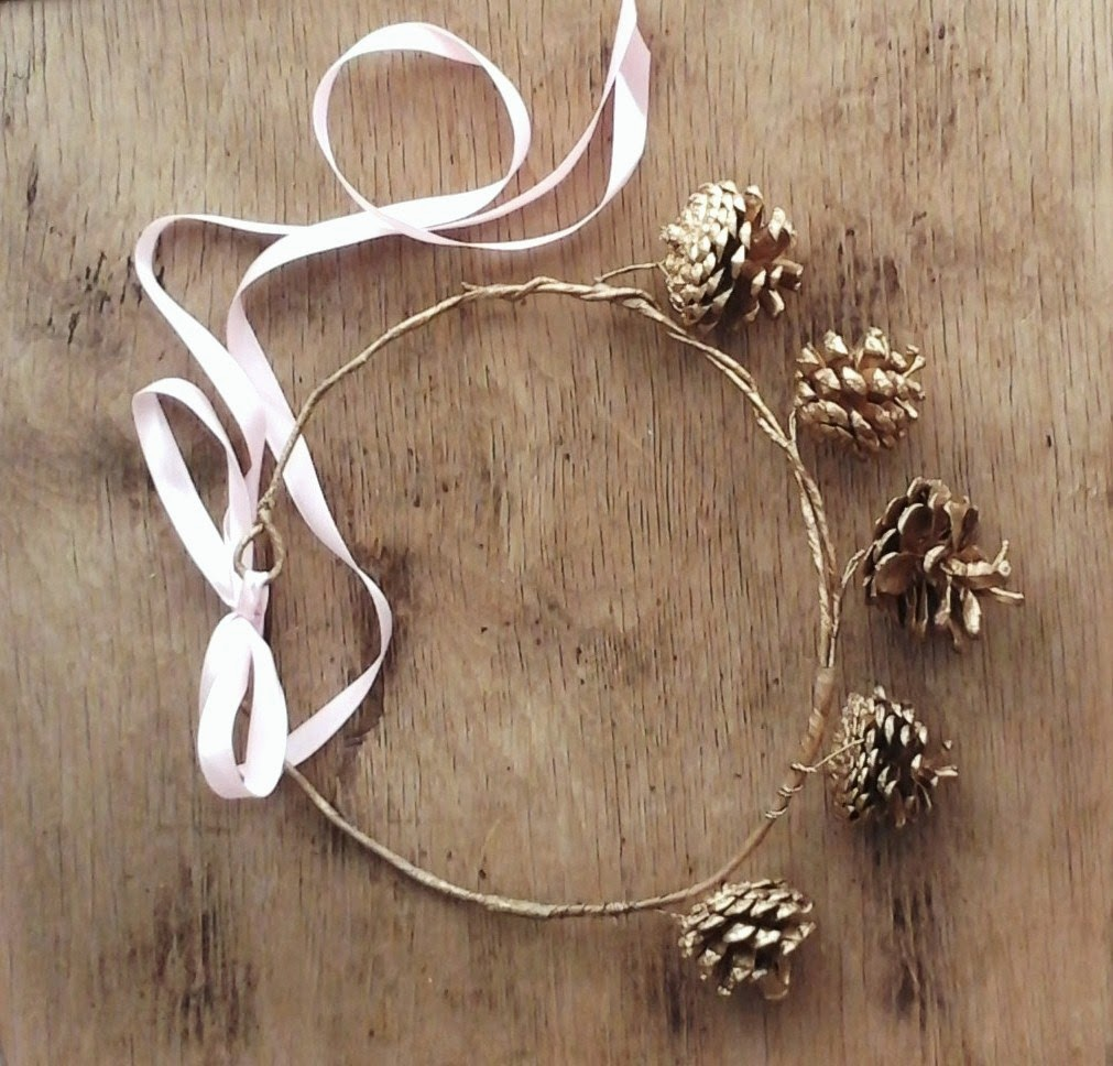 Fairytale Flower Pine Cone Crown