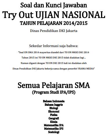 Kunci Jawaban Tryout Ipa 2014 Soal Un Try Out Us Biologi