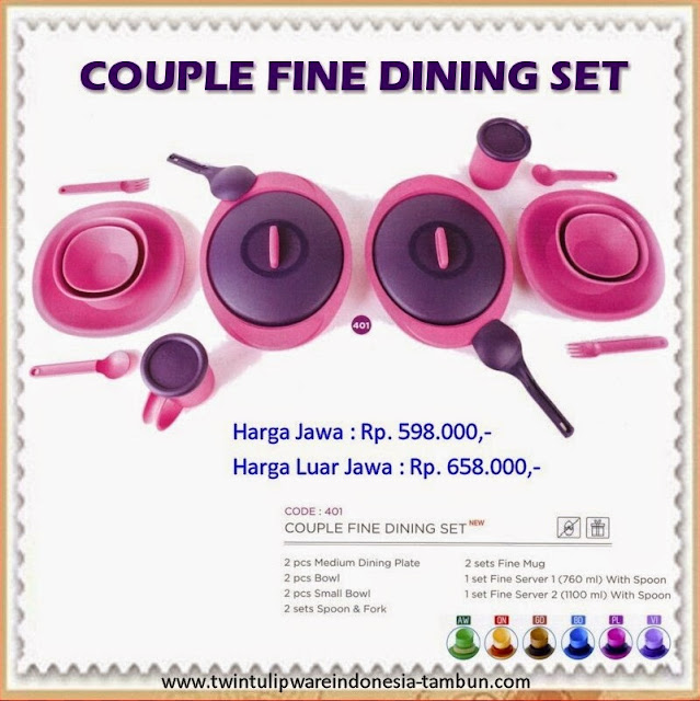 couple fine dining set tulipware 2013