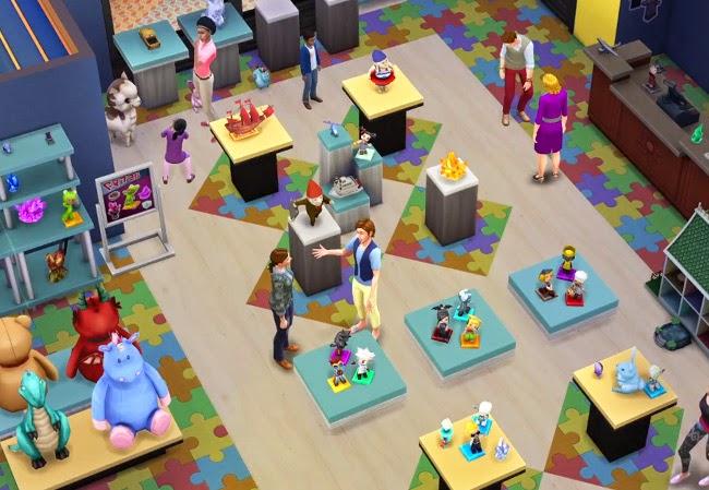 Imagen de ejemplo de una pantalla del juego Los Sims 4 ¡A trabajar!