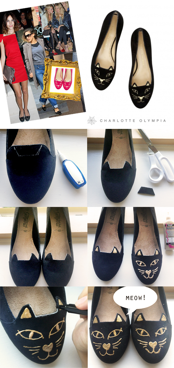 Maiko NagaoDIYCharlotte Olympia Kitty inspired cat flats by In