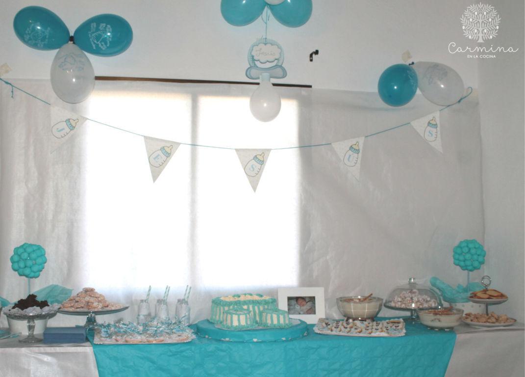 Mesa dulce para el bautizo de jes s carmina en la cocina - Decoracion para bautismo varon ...