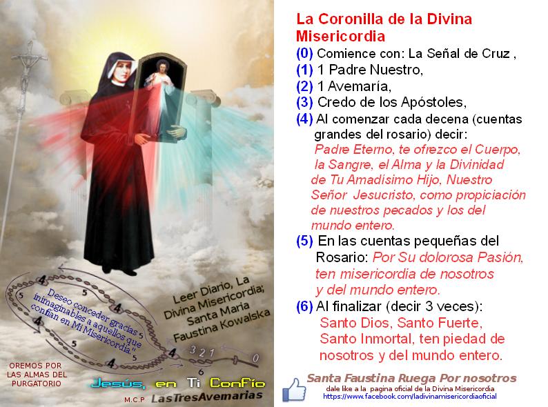 jesus y santa faustina con la coronilla