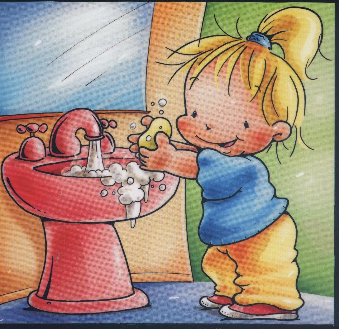 Imagenes niños lavandose las manos dibujo - Imagui