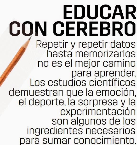 Resultado de imagen para EDUCAR CON CEREBRO