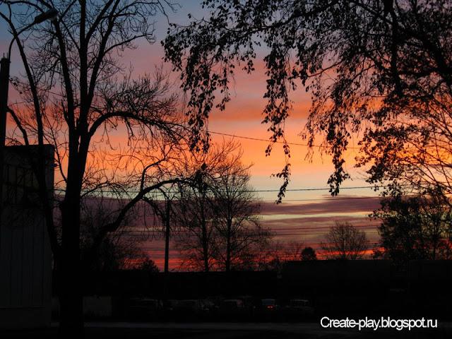 восход в Гатчине