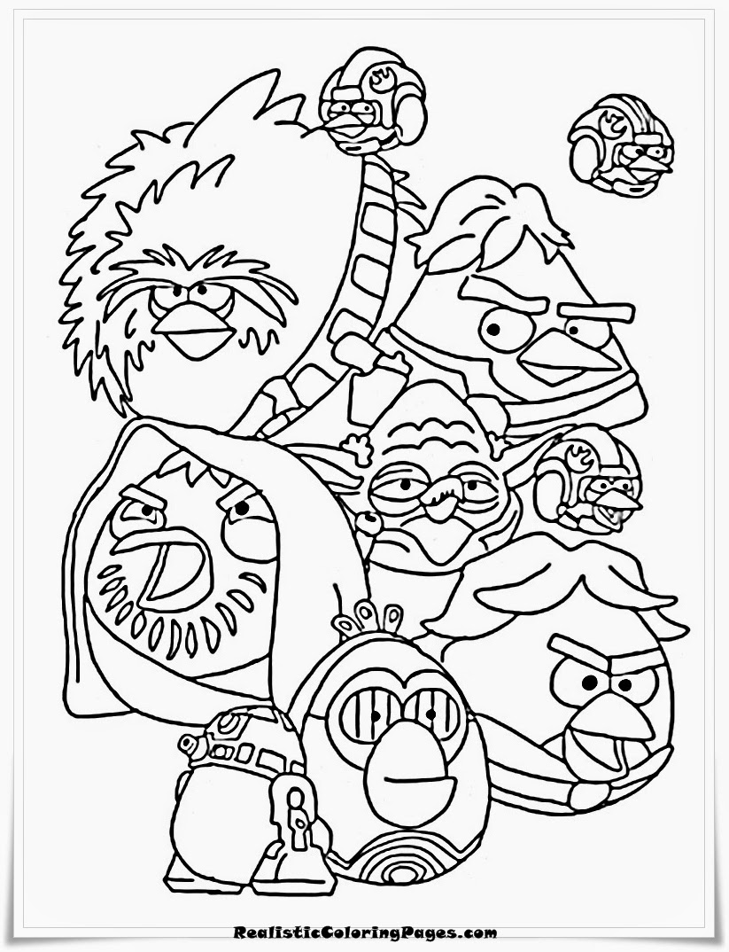 Printable Angry Birds Star Wars Coloring Pages For Kids