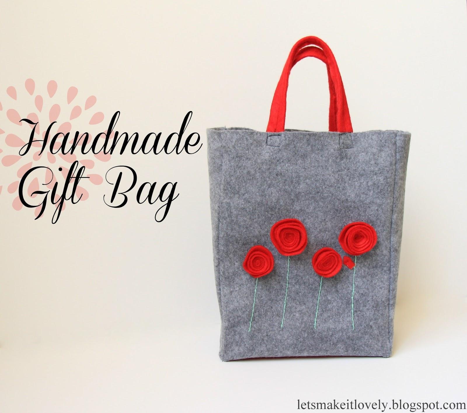 Sew an Easy Felt Gift Bag