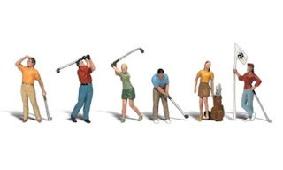 Woodland Scenics [WOO] HO Golfers A1907 WOOA1907