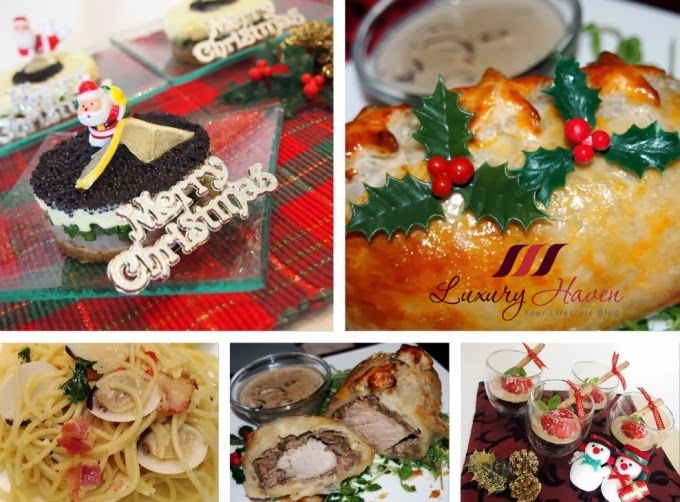 luxury haven christmas party food