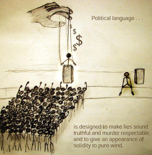 political language sorry dont