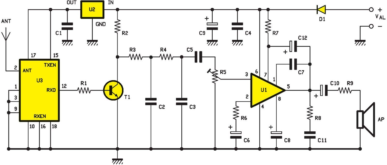 Xtr 434 donn es et audio 100 kbps ou comment r aliser un syst me de transmission audio avec - Schema d implantation electrique ...