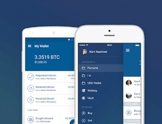 Coinbase mobile app for Android and iPhone users