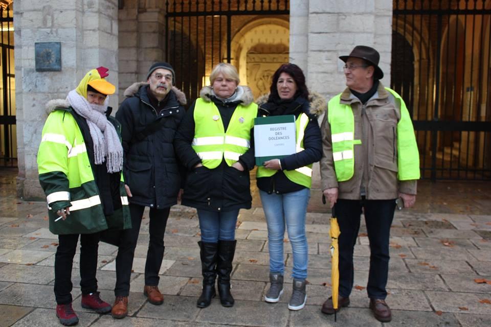 14 janvier 2019 : Remise du Cahier de doléances au Maire de Cahors