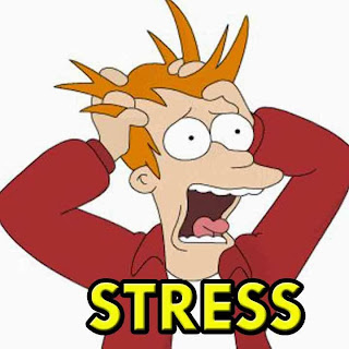 Stressed out man clipart
