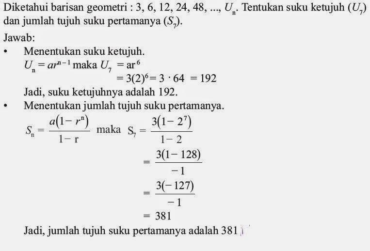 Pengertian Barisan Dan Deret Geometri Beserta Rumus Dan Contoh Soal Matematika Dan Komputer
