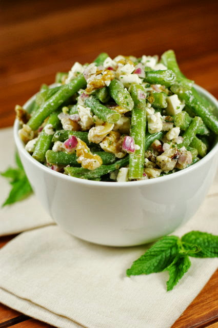 Green Bean, Walnut, and Feta Salad | The Kitchen is My Playground