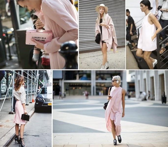 nyfw street style, pink