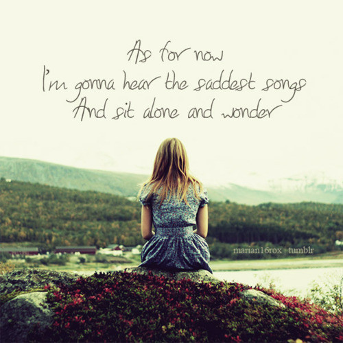 sad alone girl quotes - photo #27