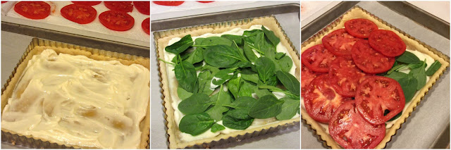 Tomato Spinach Tart with Cheesy Cornmeal Crust Recipe