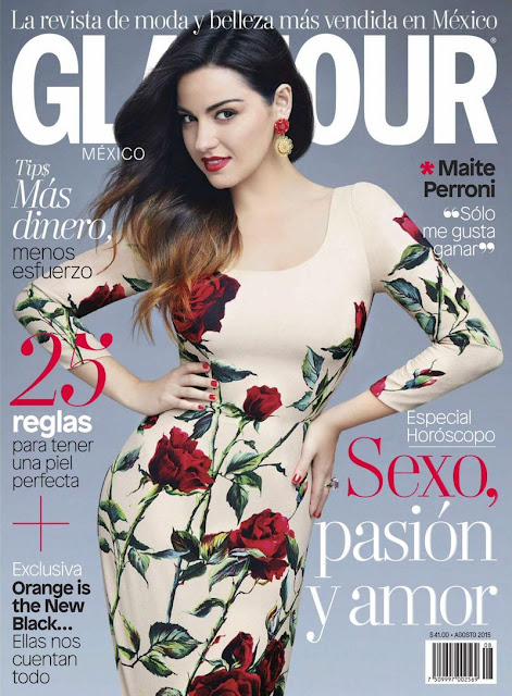 Actress, Singer, Model @ Maite Perroni - Glamour Mexico, August 2015