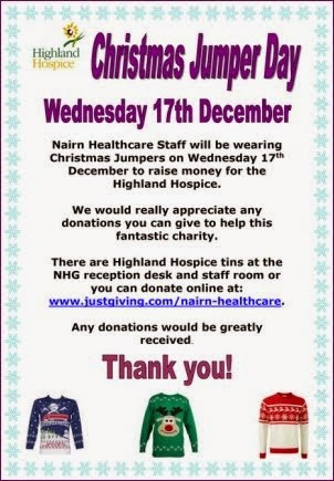 Christmas Jumper Day at Nairn Health Care