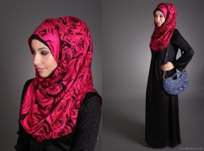 Red-Beautiful-Hijab