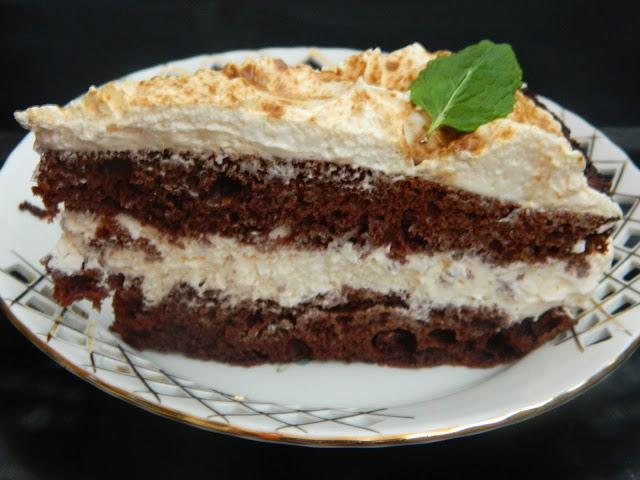 Tort cu crema de sampanie si mascarpone