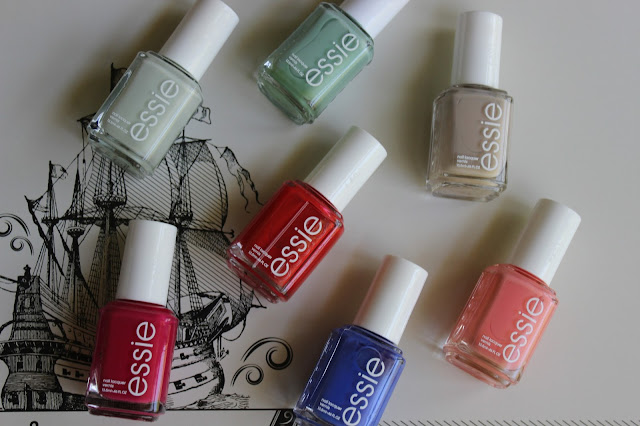 Essie, Absolutely Shore, Butler Please, Peach Side Babe, NOTD, NOTW, nail, art