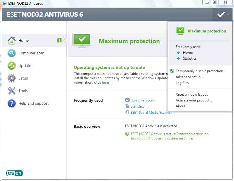 antivirus eset terbaru full crack