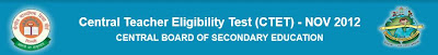 CBSE CTET November Result 2012 – www.cbseresults.nic.in