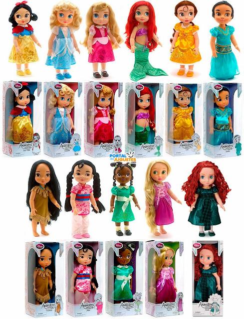todas las muñecas coleccion disney animators nueva edicion