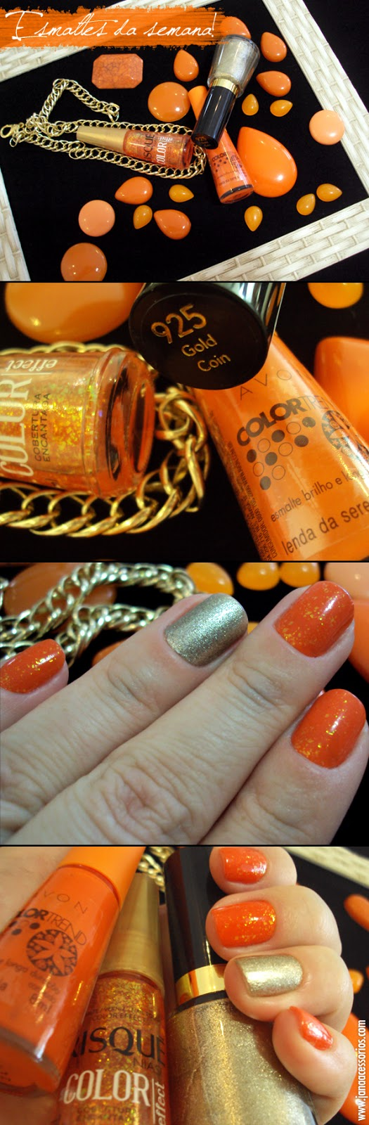 esmalte da semana, nails, laranja