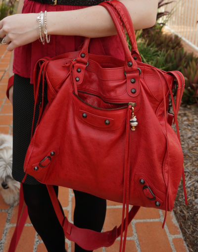 2011 coquelicot balenciaga poppy red velo bag
