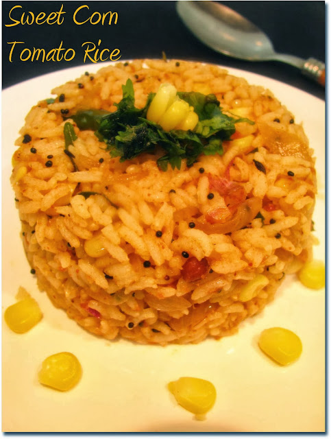 sweet corn tomato rice bath recipe